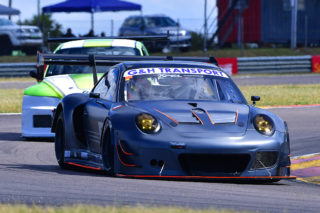 Franco Scribante took his Porsche 997 Turbo to both the races for G&H Transport Extreme Supercars. Picture: Dave Ledbitter.