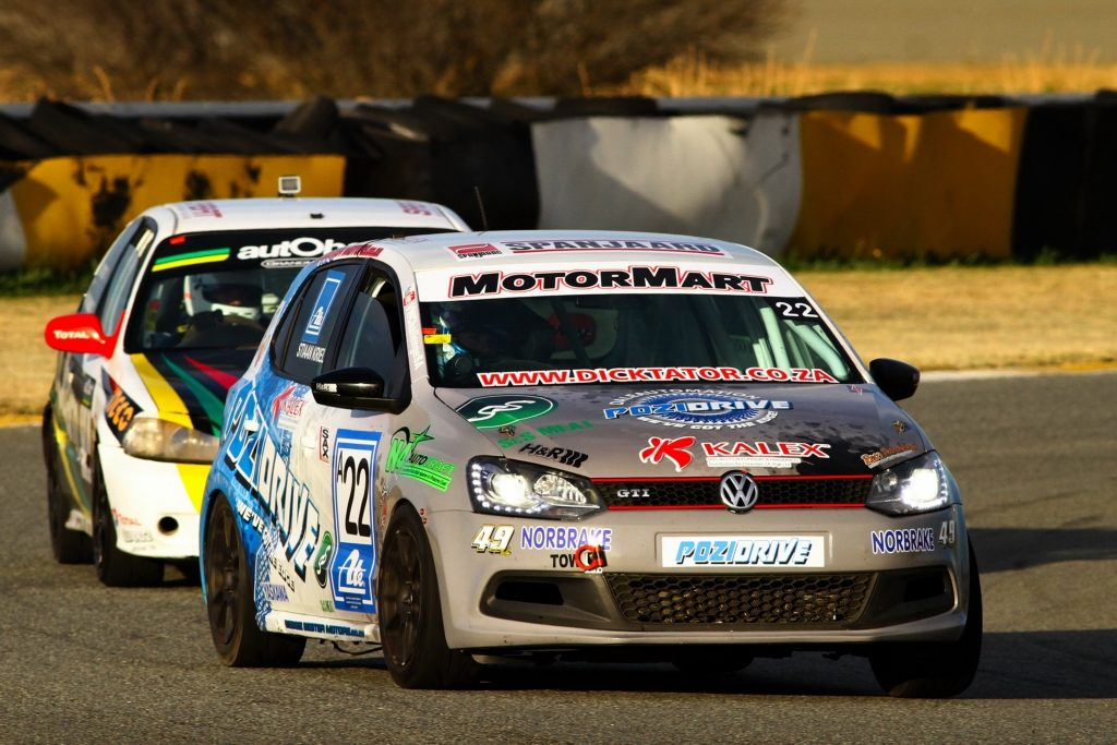 Robyn Kruger during the opening stages of the Phakisa 200 Endurance Race