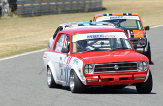Travis Jensen (Jensen Towing Datsun 1200 GX) should be in the thick of the Midvaal Historic racing action. Photo: Tony Alves.