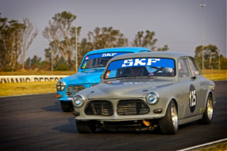 Alan Poulter could win the Under Two Litre races in his Volvo 122S. Picture: RacePics.co.za