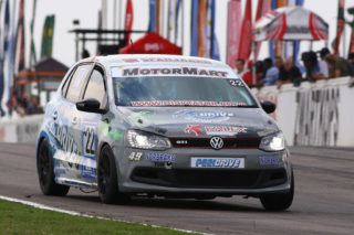 Stiaan Kriel (Pozidrive / Kalex Volkswagen Polo) heads up the MotorMart VW Challenge championship table. Picture: RacePics.