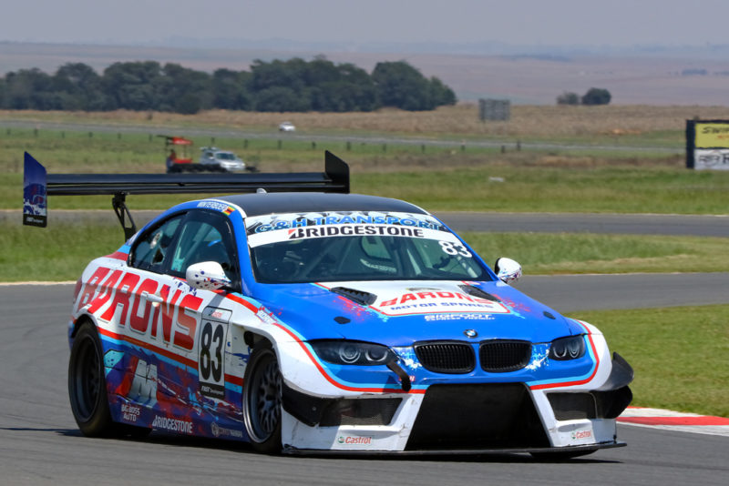 Zimbabwean Darren Winterboer a welcome visitor in his Barons Motor Spares BMW E92 M3